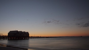 Pier im Sonnenuntergang